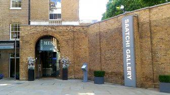 サーチ・ギャラリー(Saatchi Gallery)時代の最先端を行く博物館。スマートフォンを使った参加型の展示もあります