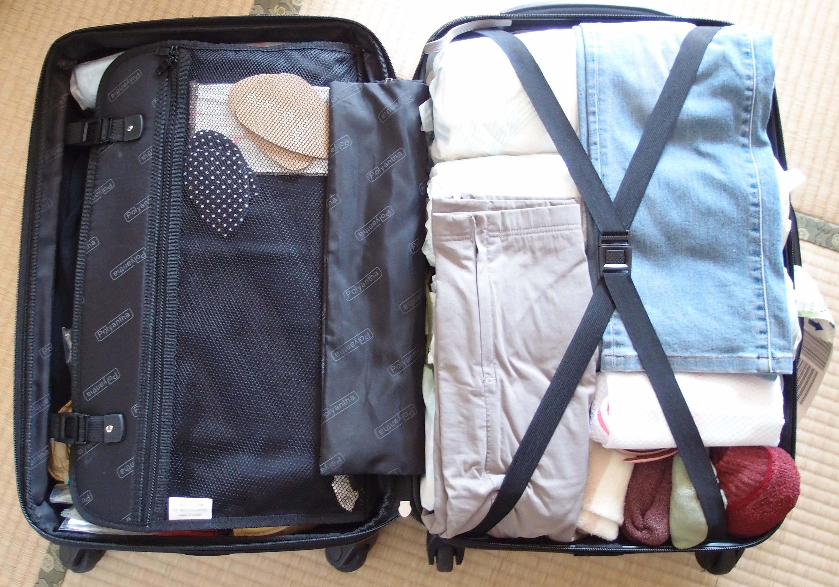 イギリスワーホリ(YMS)のための持ち物。MSサイズのスーツケースでも、これだけ入りました!