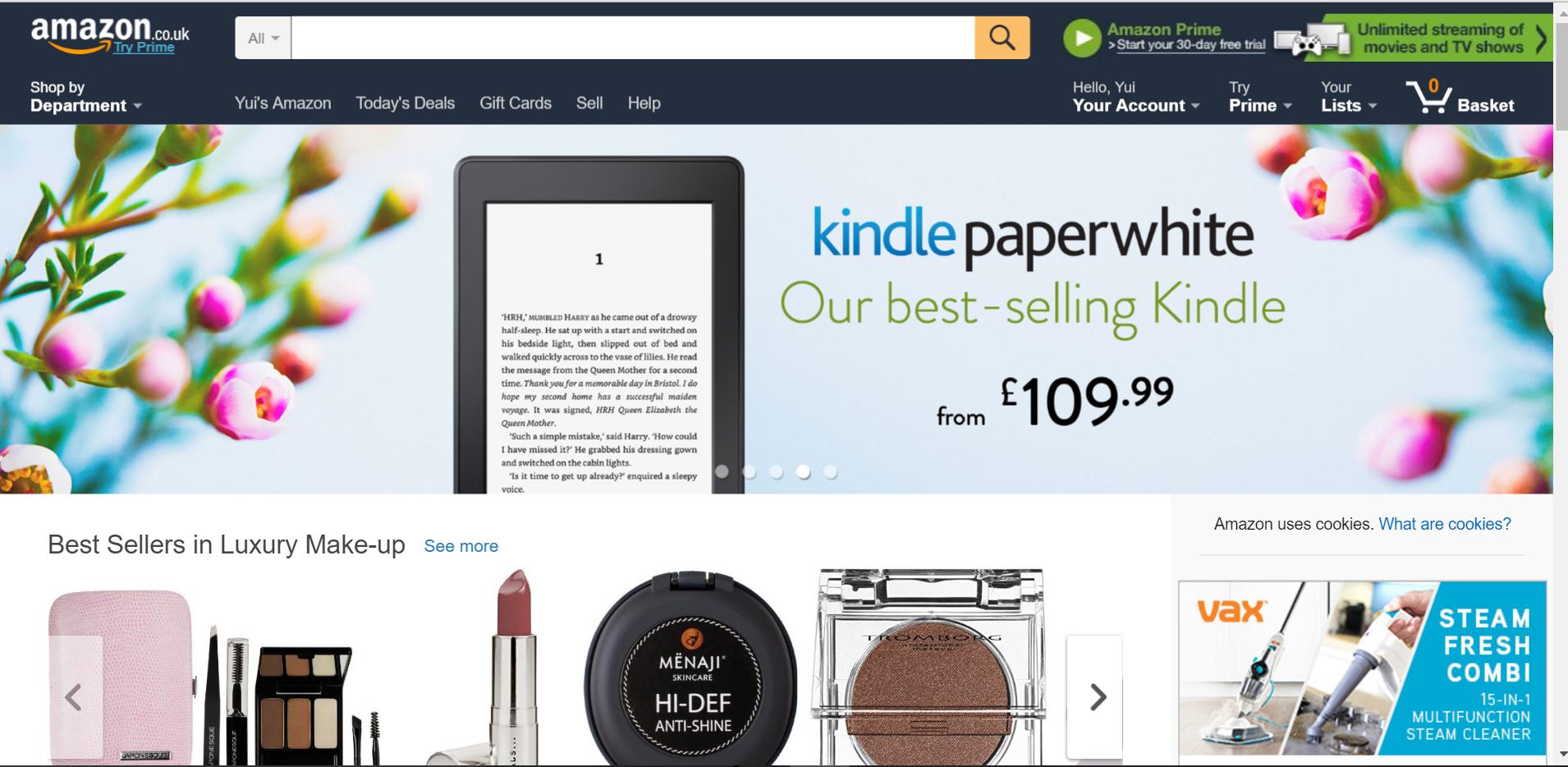 Amazon uk で買い物をしようとしたら、ログインできない!!そしてまさかのkonozama事件発生
