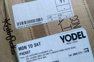 警告!イギリスにいる方は、宅配業者 Yodel は絶対に使わないでください!!!!!